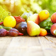 Fresh organic vegetables and fruits — Stock Photo #49728275