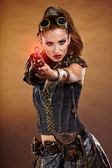 Steampunk woman — Stock Photo