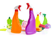Cleaning product plastic container — Stock Photo