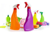 Cleaning product plastic container — Stockfoto