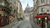 Strada di parigi - illustrazione — Foto Stock