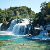 Waterfalls on Krka River — Stock Photo