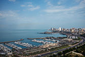 Marina and city in Kuwait  — Stock Photo