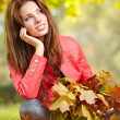 Woman in a park in autumn — Stock Photo #50686099