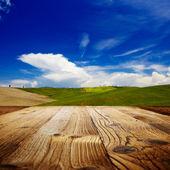 Background on the tuscany landscape — Stock Photo