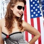 Sexy american woman — Stock Photo #8070126