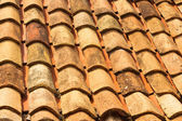 The texture of old tiled roof — Stock Photo