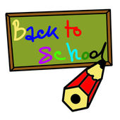 "Writing on the blackboard ""Back to School"" — Stockvector"