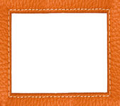 Brown leather texture close up with space for your text — Stock Photo