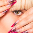 Stock Photo: Beautiful blonde with a nice manicure