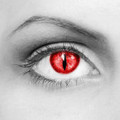 Vampire eyes — Stock Photo