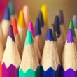 Colored pencils closeup as background — Stock Photo #15571093