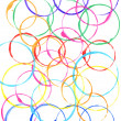 Colored circles made with paint — Stock Photo