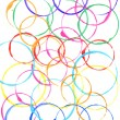 Colored circles made with paint - Stock Photo