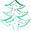 Drawn Christmas tree - Stock Photo