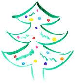 Árvore de Natal desenhada — Fotografia Stock