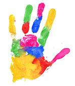 Vicino di stampa colorata a mano — Foto Stock