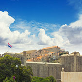 The city walls of Dubrovnik, Croatia. OldTown — Stock Photo