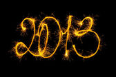 Feliz año nuevo hizo una bengala — Foto de Stock