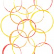 Royalty-Free Stock Photo: Colored circles made with paint