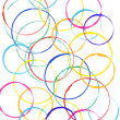 Colored circles made with paint — Stock Photo #16906539