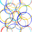 Colored circles made with paint — Stock Photo #17491743