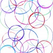 Colored circles made with paint — Stock Photo #17491749