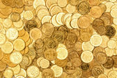 Background of the coins — Stock Photo