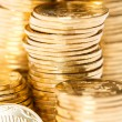 Coins close up background — Stock Photo