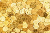 Coins close up background — Stockfoto