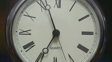 Time lapse of a clock with roman numerals — Stockvideo