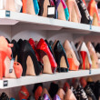 Shoes on the shelves — Stock Photo