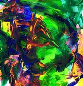 Fond de peinture acrylique dans l'esprit des couleurs bleu et jaune vert rouge — Photo