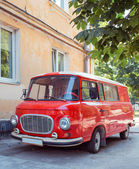 Retro car minivan — Stock Photo