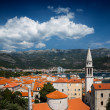 View on old town of Budva, Montenegro — Stock Photo