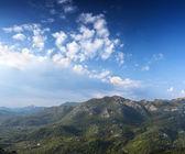 Panorama of Montenegrin mountain range — Stock Photo