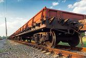 Transporte ferroviário de mercadorias — Fotografia Stock