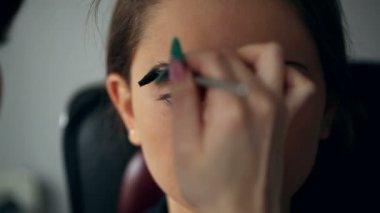 Makeup closeup — Stock Video