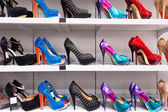 Background with shoes — Stock Photo