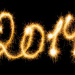 Happy New Year - 2014 made a sparkler — Stock Photo #37388267