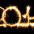 Happy New Year - 2014 made a sparkler — Stock Photo #37388281