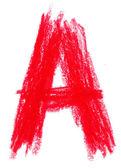 Pastelowe alfabet biały — Zdjęcie stockowe