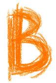 Alphabet pastel on white — Photo