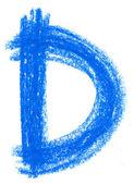 Pastello alfabeto su bianco — Foto Stock