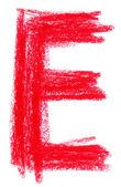 Alphabet pastel on white — Stock Photo