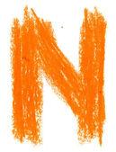 Alphabet pastel on white — Stock fotografie