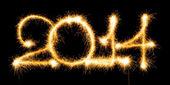 Felice anno nuovo - 2014 fatto un sparkler — Foto Stock