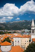 View on old town of Budva. Montenegro, Balkans — Stock Photo