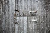 Две деревянные двери — Стоковое фото