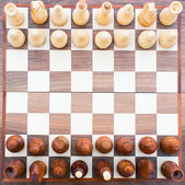 Chess board top view — Stock Photo